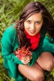 Retrato da menina do outono Fotografia de Stock