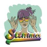 Retrato da menina do verão Imagens de Stock Royalty Free