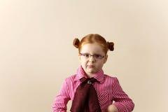 Retrato da menina elegante bonito do redhead Imagens de Stock Royalty Free