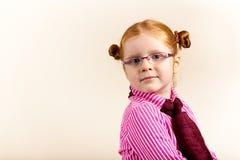 Retrato da menina elegante bonito do redhead Fotografia de Stock