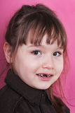 Retrato da menina em um fundo cor-de-rosa 2 fotos de stock royalty free