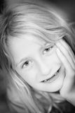 Retrato da menina loura fotos de stock royalty free