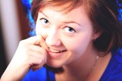 Retrato da menina moreno bonita Fotos de Stock Royalty Free
