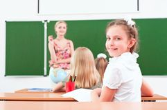 Retrato da menina na classe Imagem de Stock Royalty Free