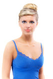 Retrato da menina na obscuridade - azul Imagens de Stock Royalty Free