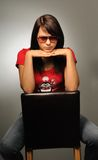 Retrato da menina no estúdio Fotografia de Stock