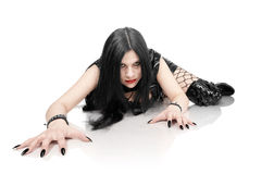 Retrato da menina no estilo gótico Imagem de Stock