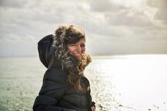 Retrato da menina no inverno Foto de Stock Royalty Free