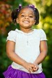 Retrato da menina nova do African-American Fotos de Stock