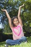 Retrato da menina nova do americano africano de raça misturada Imagem de Stock Royalty Free