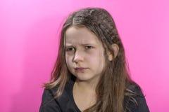 Retrato da menina ofendida e frustrante fotografia de stock royalty free