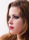 Retrato da menina pálida bonita com cabelo longo Fotos de Stock