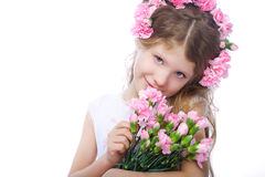Retrato da menina pequena loura Fotografia de Stock Royalty Free