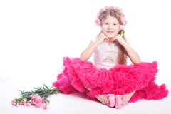 Retrato da menina pequena loura Imagem de Stock