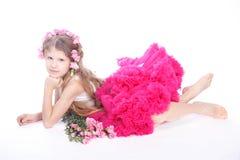 Retrato da menina pequena loura Imagem de Stock Royalty Free