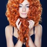 Retrato da menina red-haired Imagem de Stock Royalty Free