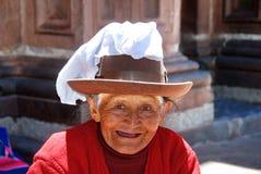 Retrato da mulher adulta Quechua fotografia de stock royalty free
