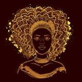 Retrato da mulher africana Foto de Stock Royalty Free