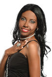 Retrato da mulher afro-americano bonita Imagens de Stock