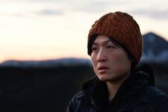 Retrato da mulher asiática da aventura imagem de stock royalty free