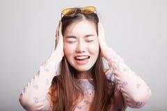 Retrato da mulher asiática nova bonita Imagem de Stock