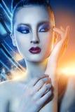Retrato da mulher asiática 'sexy' no nascer do sol Fotografia de Stock Royalty Free