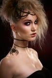 Retrato da mulher assustador fotos de stock royalty free