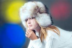 Retrato da mulher atrativa Fotos de Stock Royalty Free