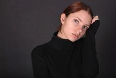 Retrato da mulher atrativa Imagens de Stock Royalty Free