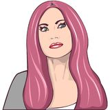 Retrato da mulher da beleza Imagem de Stock Royalty Free