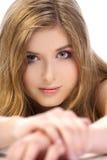 Retrato da mulher bonita Imagem de Stock