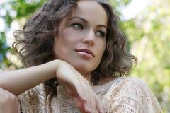 Retrato da mulher bonita Imagens de Stock