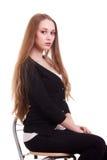 Retrato da mulher bonita com cabelo longo louro Foto de Stock