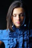Retrato da mulher bonita com os olhos fechados Imagens de Stock
