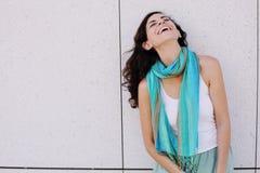 Retrato da mulher bonita de sorriso Imagens de Stock Royalty Free