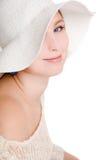 Retrato da mulher bonita de sorriso Imagem de Stock Royalty Free