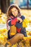 Retrato da mulher bonita nova Fotografia de Stock