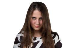 Retrato da mulher bonita triste Fotos de Stock Royalty Free
