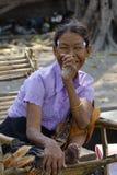 Retrato da mulher burmese Imagem de Stock