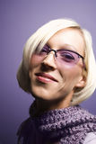 Retrato da mulher caucasiano nova. foto de stock