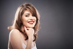 Retrato da mulher com cabelo do encrespador Imagem de Stock