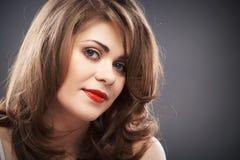 Retrato da mulher com cabelo do encrespador Imagens de Stock Royalty Free