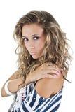 Retrato da mulher com olhos piercing Fotos de Stock Royalty Free