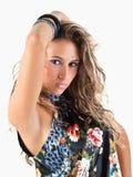 Retrato da mulher com olhos piercing Imagens de Stock Royalty Free