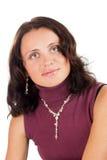 Retrato da mulher consideravelmente nova Fotos de Stock Royalty Free