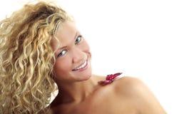 Retrato da mulher da beleza foto de stock
