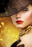 Retrato da mulher da forma Foto de Stock Royalty Free