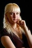 Retrato da mulher de Blondie imagem de stock
