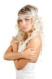 Retrato da mulher de Blondie fotografia de stock