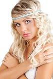 Retrato da mulher de Blondie fotos de stock